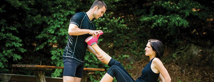 Skurcze mięśni podczas ćwiczeń.